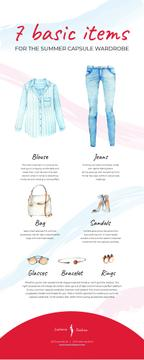 List infographics with Fashion items