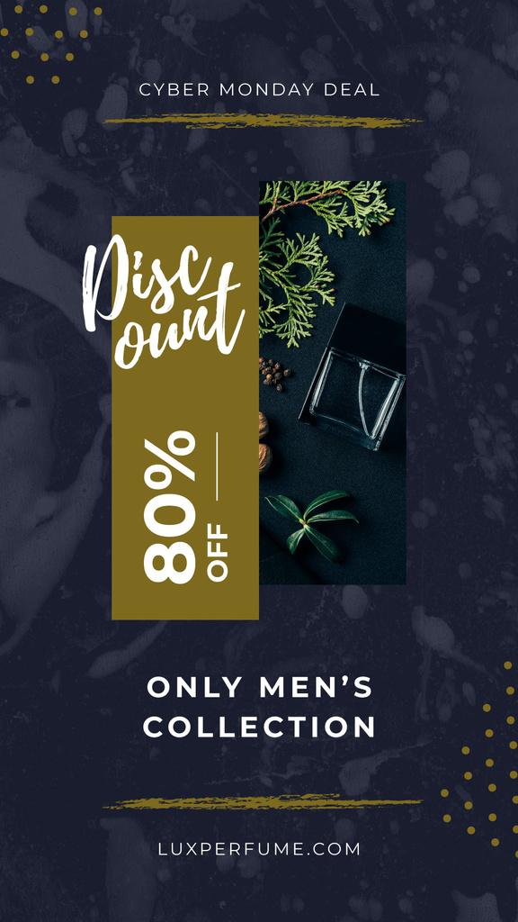 Cyber Monday Sale Perfume bottle by plants — Створити дизайн