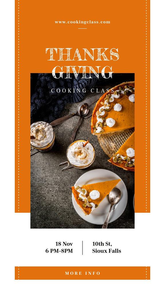 Designvorlage Baked pumpkin pie on Thanksgiving für Instagram Story