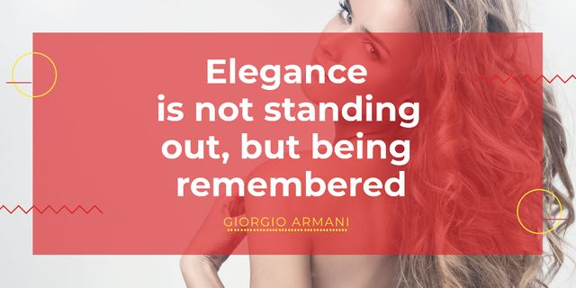 Szablon projektu Citation about Elegance with Young Woman Twitter