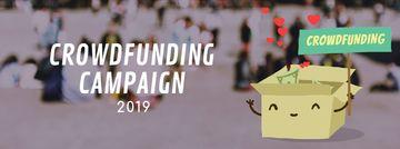 Crowdfunding Campaign Ad Money Filling Box