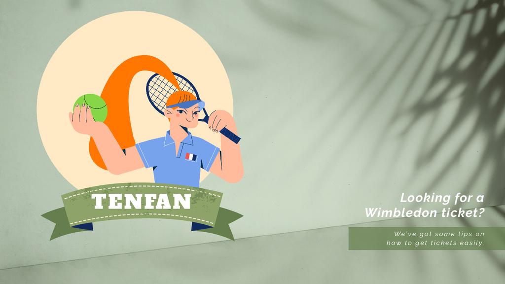 Wimbledon Tickets Offer Sportswoman | Full HD Video Template — Create a Design