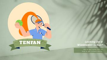 Wimbledon Tickets Offer Sportswoman | Full HD Video Template