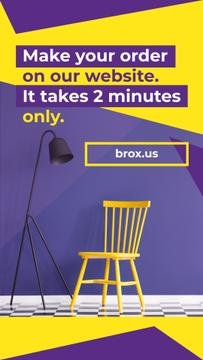 Yellow Chair by Purple Wall for Story