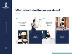 Cleaning Services Offer with Chambermaid in Room