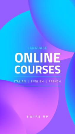 Template di design Language Online Courses Ad Instagram Story