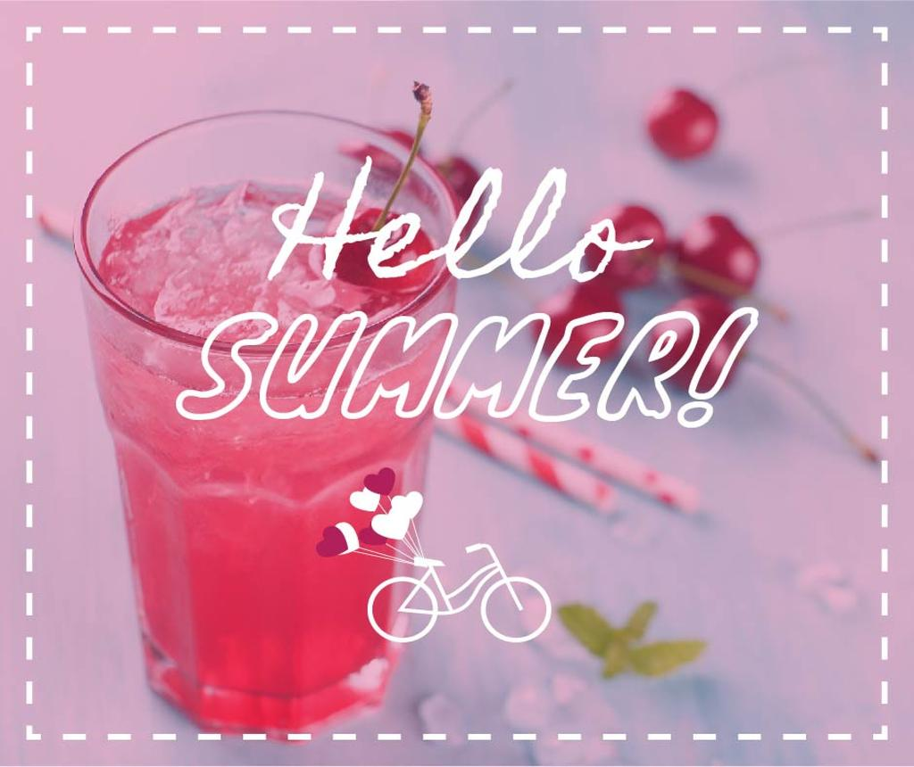 Summer Drink with Red Cherries — Crea un design
