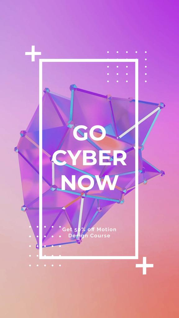 Cyber Monday Sale Digital Shape in Purple — ein Design erstellen
