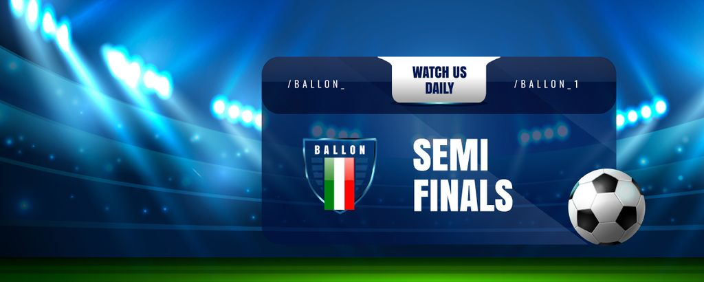 Sport Game Stream Ad with Illuminated Stadium Twitch Profile Bannerデザインテンプレート
