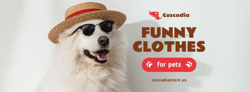 Pet Shop Offer Funny Dog in Hat and Sunglasses — Crear un diseño