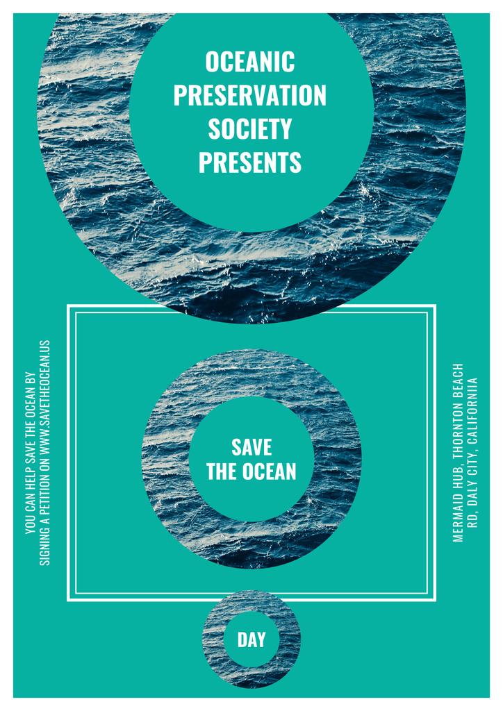 Save the ocean event poster — Créer un visuel