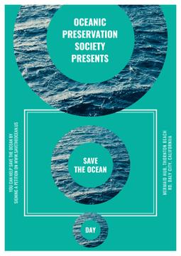 Save the ocean event poster