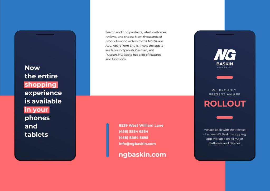 New Business App Ad on Gadget Screen Brochure Modelo de Design