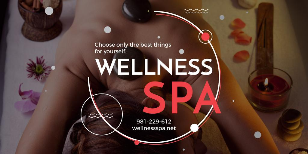 Wellness spa website poster — Crear un diseño