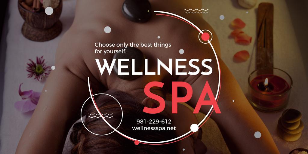 Wellness spa website poster — Maak een ontwerp