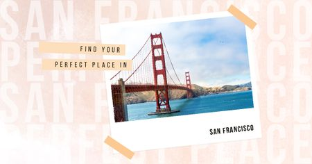 San Francisco cityscape Facebook ADデザインテンプレート