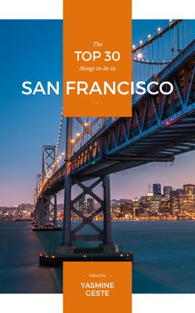Travelling to San Francisco city Book Coverデザインテンプレート