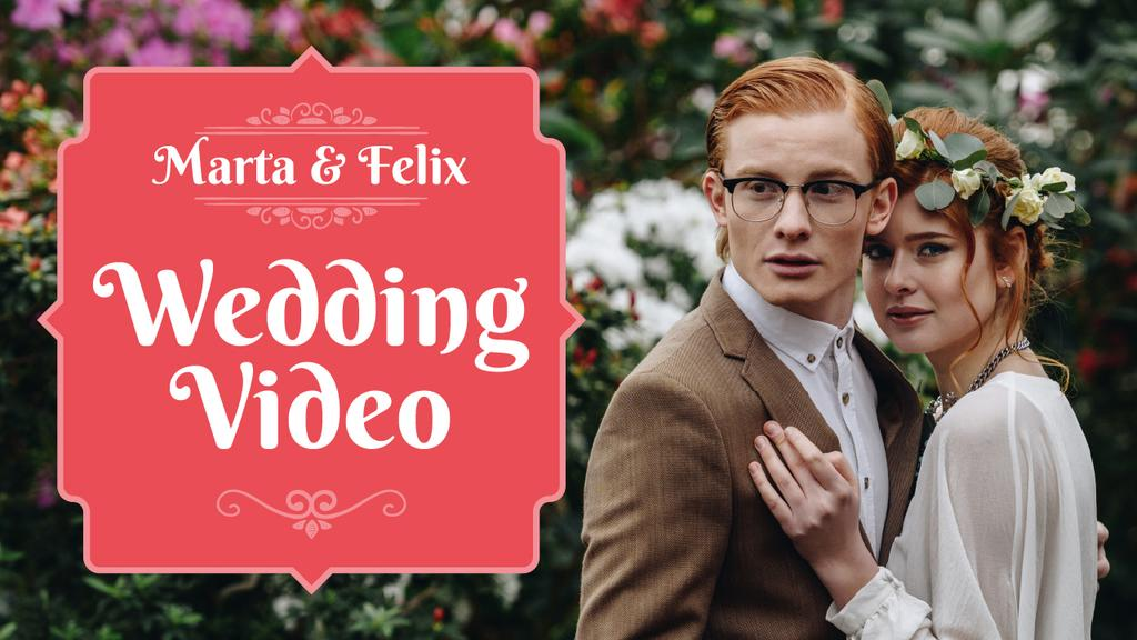 Wedding Shooting Services Happy Young Newlyweds — Створити дизайн