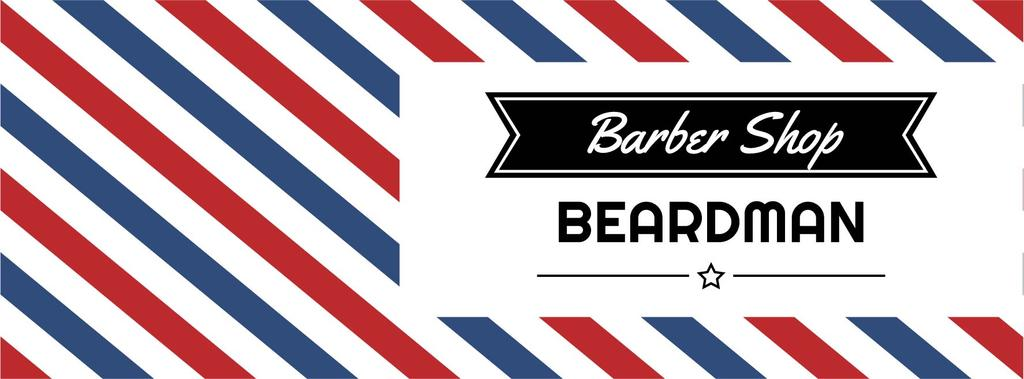 Barbershop Ad with Striped Lamp | Facebook Cover Template — Створити дизайн