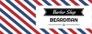 Barbershop Ad with Striped Lamp | Facebook Cover Template