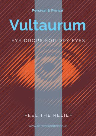 Plantilla de diseño de Eye drops advertisement Poster