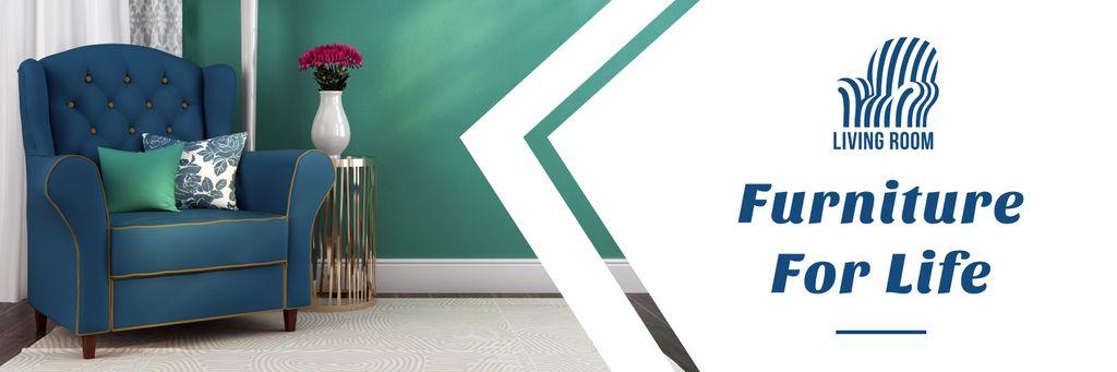 Furniture Shop Ad Teal Cozy Armchair — Maak een ontwerp