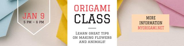 Origami class Invitation Twitter Modelo de Design