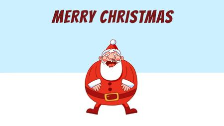 Template di design Happy laughing Santa Full HD video