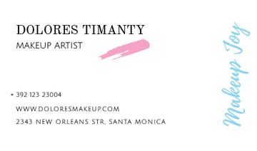 Makeup Artist Contacts Smudge in Pink | Business Card Template