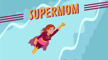 Superwoman Flying in the Sky | Full Hd Video Template