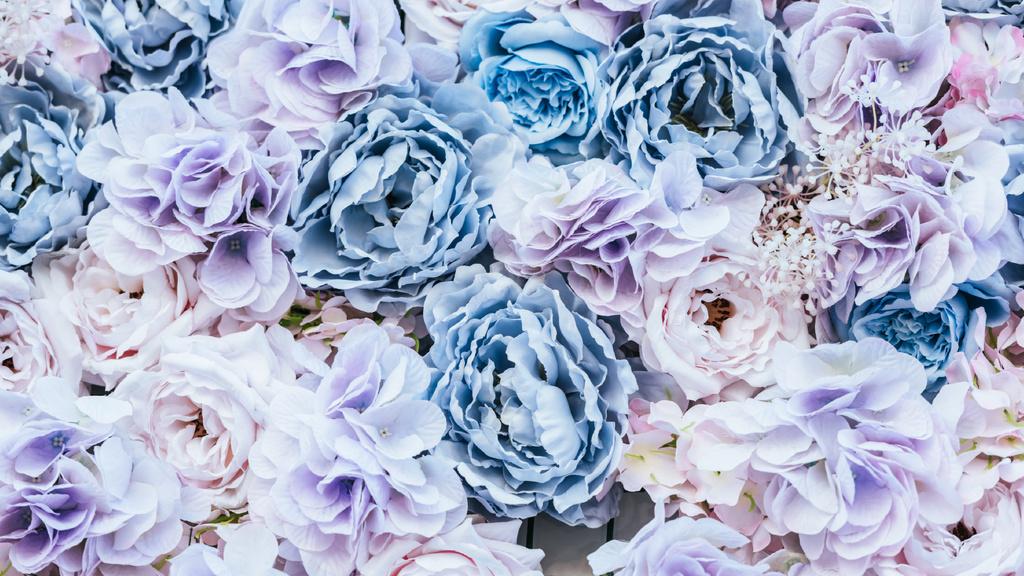 Fancy Blue Rose Flowers — Modelo de projeto