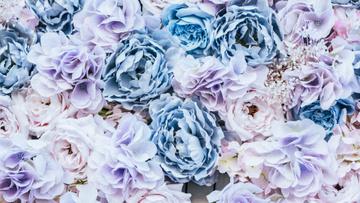 Fancy Blue Rose Flowers