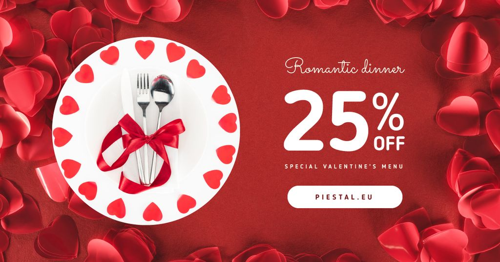 Valentine's Day Dinner Cutlery in Red — ein Design erstellen