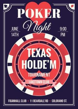 Poker night tournament advertisement