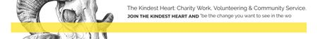 Ontwerpsjabloon van Leaderboard van The Kindest Heart: Charity Work