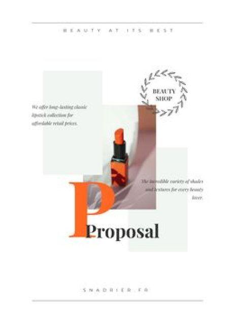 Plantilla de diseño de Beauty Shop offer with Lipstick Proposal