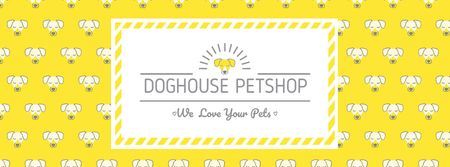 Plantilla de diseño de Pet shop bright Annoucement Facebook cover