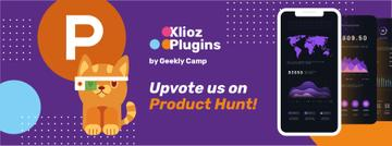 Product Hunt App Stats on Screen | Facebook Cover Template