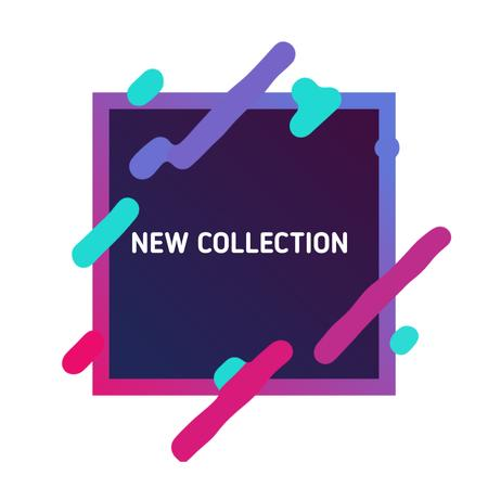 New Collection Ad with Linear geometric frame with moving lines Animated Post – шаблон для дизайну