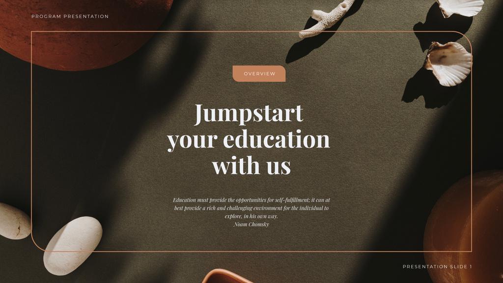 Education program overview — Créer un visuel