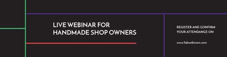 Plantilla de diseño de Live webinar for handmade shop owners Twitter