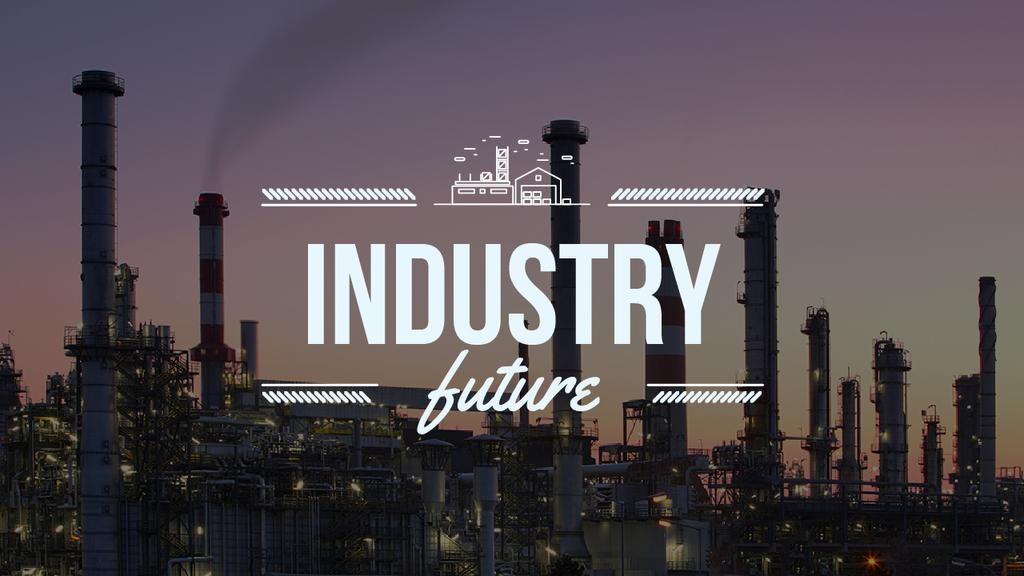 Thick Smoke from Industrial Chimneys Youtube Thumbnail Design Template