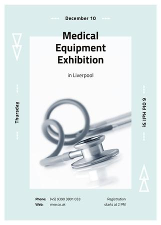 Template di design Medical stethoscope on table Invitation