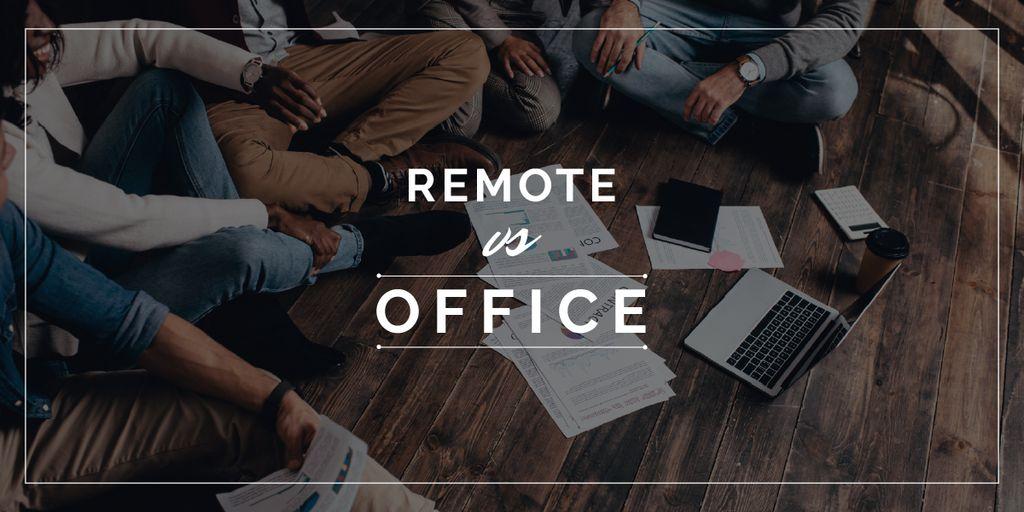 Business Team Working on a Floor — ein Design erstellen
