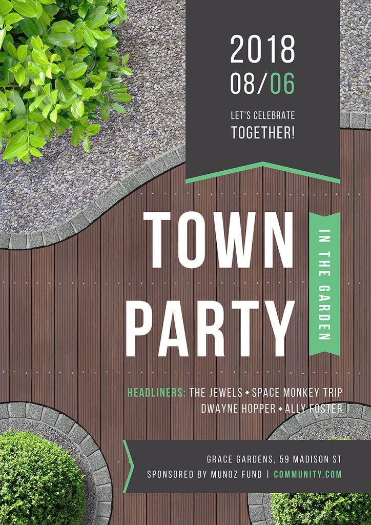 Town party in the garden — Create a Design