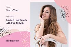 Beauty Studio Ad with Woman with Long Hair