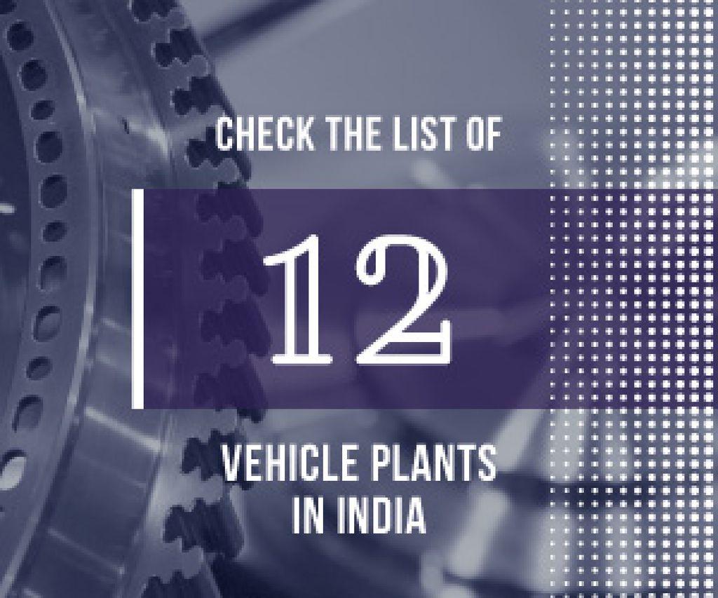 Vehicle plants in India poster — Crea un design