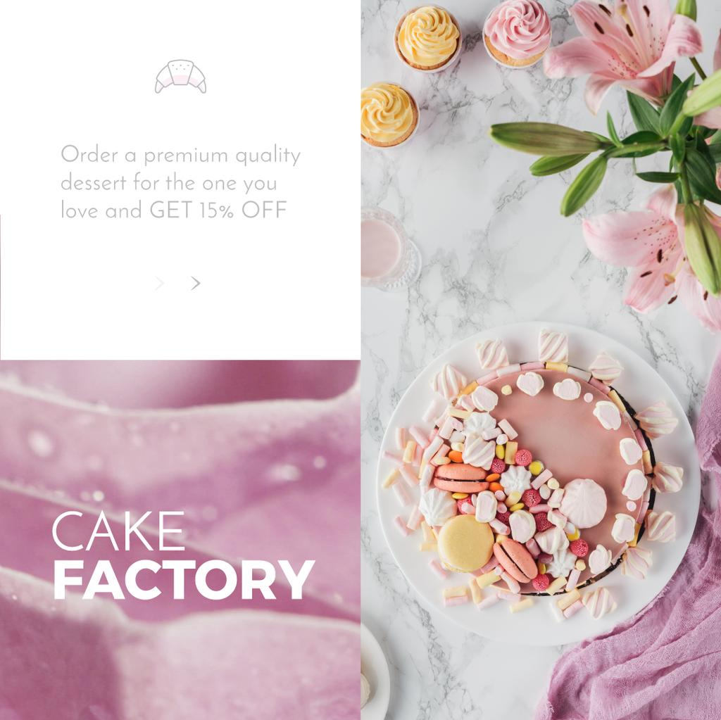 Sweet pink cake  — Create a Design
