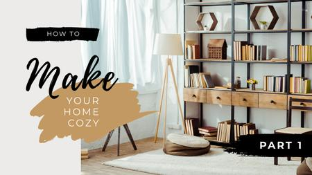 Cozy Home Interior in minimalistic style Youtube Thumbnail Modelo de Design