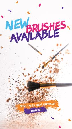 Makeup brushes set Sale Instagram Story Tasarım Şablonu